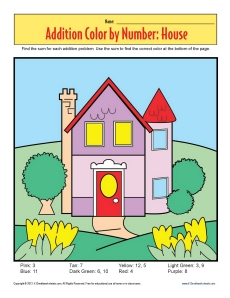 Addition_Color_by_Number_House