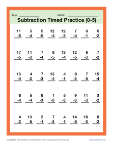 Subtraction_Timed 0-5