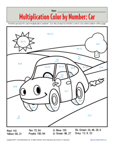 Multiplication_Color_By_Number_Car