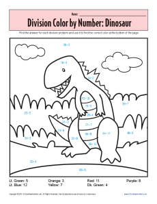 Division_Color_by_Number_Dinosaur