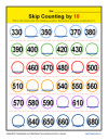 Math Skip Counting by 10 Worksheet
