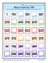 Math Skip Counting by 100 Practice Worksheet