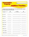 Addition Worksheets - Commutative Property