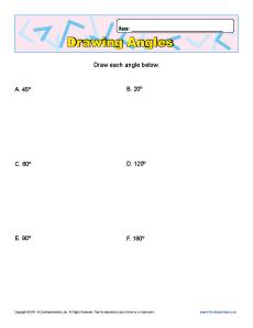 Angle Math Problems