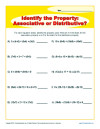 Math Worksheet Activity - Properties