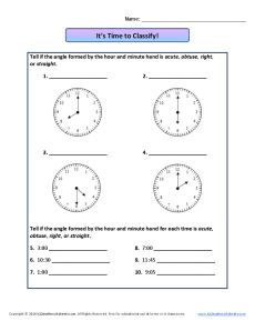 Angle Worksheet